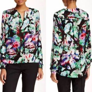 """EUC Parker Wasp Blouse XS in """"Nightgarden"""""""